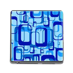 Retro Pattern 1971 Blue Memory Card Reader (Square) by ImpressiveMoments