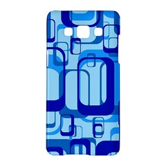 Retro Pattern 1971 Blue Samsung Galaxy A5 Hardshell Case  by ImpressiveMoments