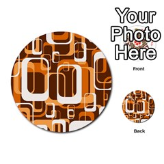 Retro Pattern 1971 Orange Multi Purpose Cards (round)  by ImpressiveMoments