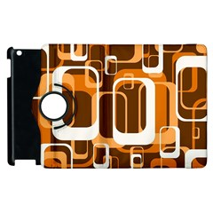 Retro Pattern 1971 Orange Apple Ipad 3/4 Flip 360 Case by ImpressiveMoments