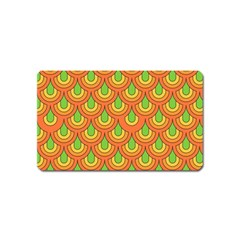 70s Green Orange Pattern Magnet (name Card) by ImpressiveMoments