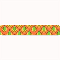 70s Green Orange Pattern Small Bar Mats by ImpressiveMoments