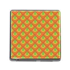 70s Green Orange Pattern Memory Card Reader (Square) by ImpressiveMoments