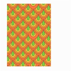70s Green Orange Pattern Large Garden Flag (two Sides) by ImpressiveMoments