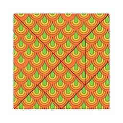70s Green Orange Pattern Acrylic Tangram Puzzle (6  X 6 )