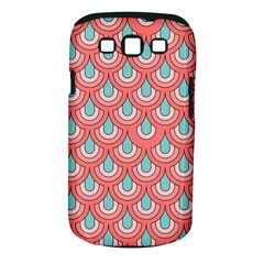 70s Peach Aqua Pattern Samsung Galaxy S Iii Classic Hardshell Case (pc+silicone) by ImpressiveMoments