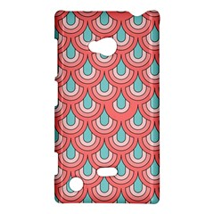 70s Peach Aqua Pattern Nokia Lumia 720 by ImpressiveMoments