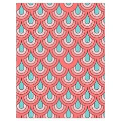 70s Peach Aqua Pattern Drawstring Bag (Large) by ImpressiveMoments