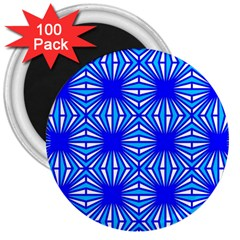Retro Blue Pattern 3  Magnets (100 pack) by ImpressiveMoments
