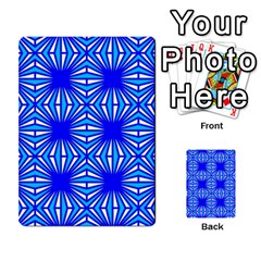 Retro Blue Pattern Multi Purpose Cards (rectangle)  by ImpressiveMoments