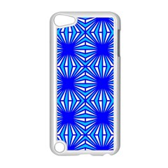 Retro Blue Pattern Apple iPod Touch 5 Case (White) by ImpressiveMoments