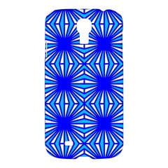 Retro Blue Pattern Samsung Galaxy S4 I9500/i9505 Hardshell Case by ImpressiveMoments