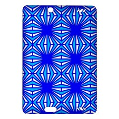 Retro Blue Pattern Kindle Fire Hd (2013) Hardshell Case by ImpressiveMoments