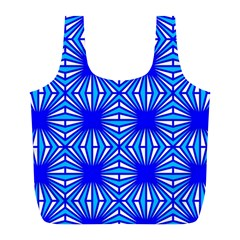 Retro Blue Pattern Full Print Recycle Bags (l)  by ImpressiveMoments