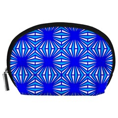Retro Blue Pattern Accessory Pouches (large)  by ImpressiveMoments