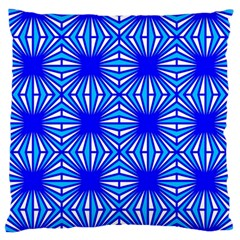 Retro Blue Pattern Standard Flano Cushion Cases (one Side)  by ImpressiveMoments
