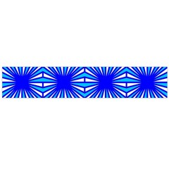 Retro Blue Pattern Flano Scarf (large)  by ImpressiveMoments