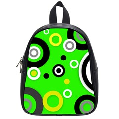 Florescent Green Yellow Abstract  School Bags (small)  by OCDesignss