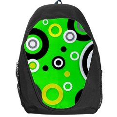 Florescent Green Yellow Abstract  Backpack Bag by OCDesignss