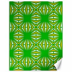 Retro Green Pattern Canvas 18  X 24   by ImpressiveMoments