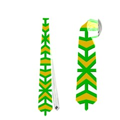Retro Green Pattern Neckties (one Side)