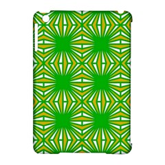 Retro Green Pattern Apple iPad Mini Hardshell Case (Compatible with Smart Cover) by ImpressiveMoments