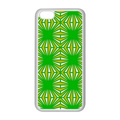 Retro Green Pattern Apple Iphone 5c Seamless Case (white) by ImpressiveMoments