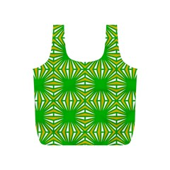 Retro Green Pattern Full Print Recycle Bags (s)  by ImpressiveMoments