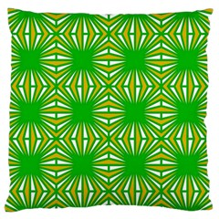Retro Green Pattern Large Flano Cushion Cases (one Side)  by ImpressiveMoments