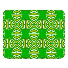 Retro Green Pattern Double Sided Flano Blanket (large)