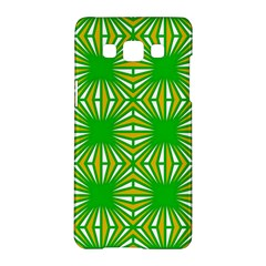 Retro Green Pattern Samsung Galaxy A5 Hardshell Case  by ImpressiveMoments