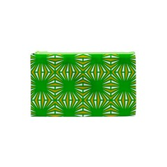 Retro Green Pattern Cosmetic Bag (xs) by ImpressiveMoments
