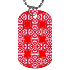 Retro Red Pattern Dog Tag (one Side) by ImpressiveMoments