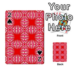 Retro Red Pattern Playing Cards 54 Designs