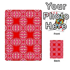 Retro Red Pattern Multi-purpose Cards (Rectangle)  by ImpressiveMoments