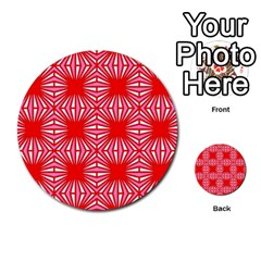 Retro Red Pattern Multi Purpose Cards (round)  by ImpressiveMoments