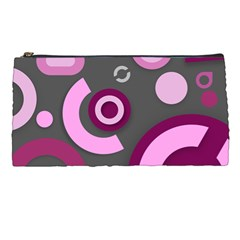 Grey Plum Abstract Pattern  Pencil Cases