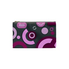 Grey Plum Abstract Pattern  Cosmetic Bag (small)