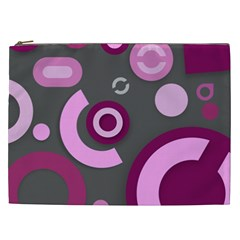 Grey Plum Abstract Pattern  Cosmetic Bag (xxl)