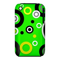 Florescent Green Yellow Abstract  Apple Iphone 3g/3gs Hardshell Case (pc+silicone) by OCDesignss