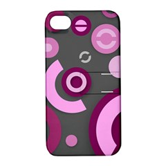 Pink Purple Abstract Iphone Cases  Apple Iphone 4/4s Hardshell Case With Stand by OCDesignss