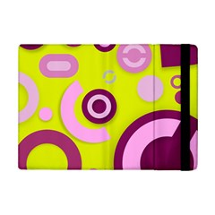 Florescent Yellow Pink Abstract  Ipad Mini 2 Flip Cases by OCDesignss