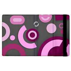 Pink Purple Abstract Cases Apple iPad 2 Flip Case by OCDesignss
