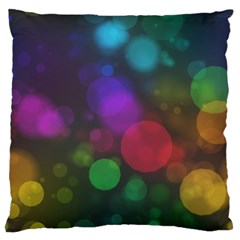 Modern Bokeh 15 Large Flano Cushion Cases (one Side)  by ImpressiveMoments