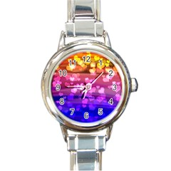 Lovely Hearts, Bokeh Round Italian Charm Watches by ImpressiveMoments