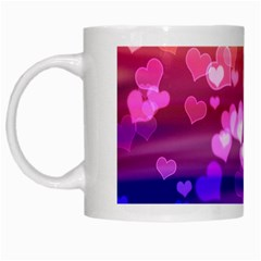 Lovely Hearts, Bokeh White Mugs by ImpressiveMoments