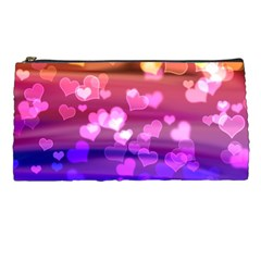 Lovely Hearts, Bokeh Pencil Cases by ImpressiveMoments