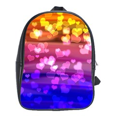 Lovely Hearts, Bokeh School Bags(large)  by ImpressiveMoments