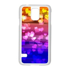Lovely Hearts, Bokeh Samsung Galaxy S5 Case (white) by ImpressiveMoments
