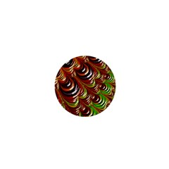 Special Fractal 31 Green,brown 1  Mini Buttons by ImpressiveMoments